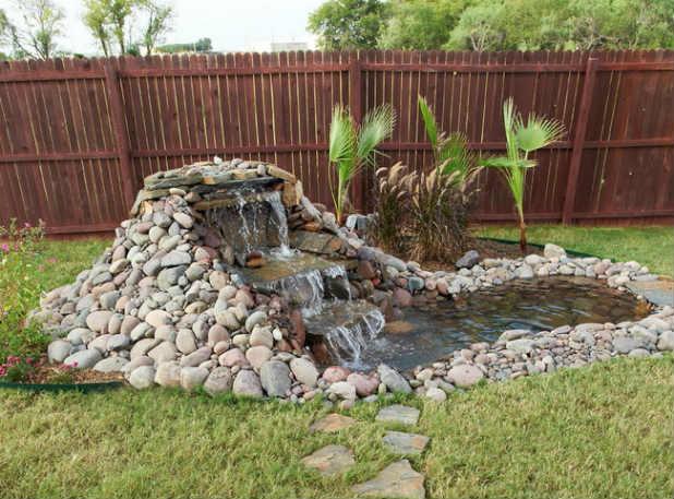Водопад во дворе пошаговая инструкция
